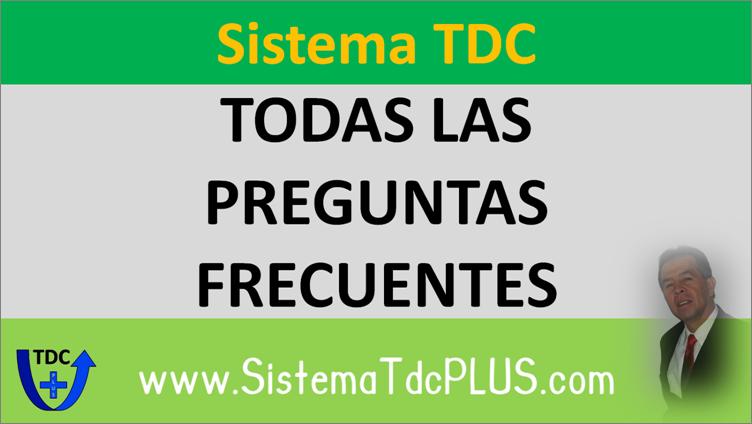 Sistema TDC Preguntas Frecuentes