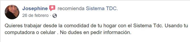 Sistema TDC. Como trabajar desde casa