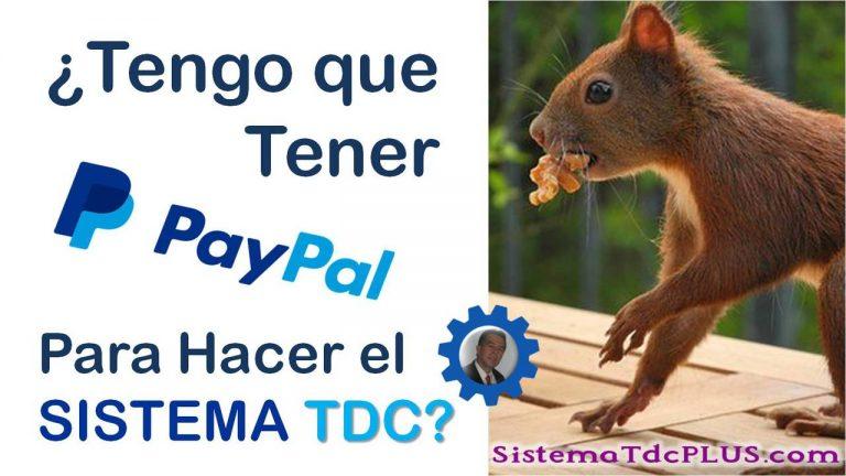 Sistema TDC - Tener cuenta PayPal